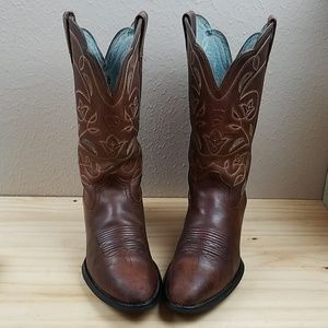 Ariat Brown Leather Boots Size 7.5